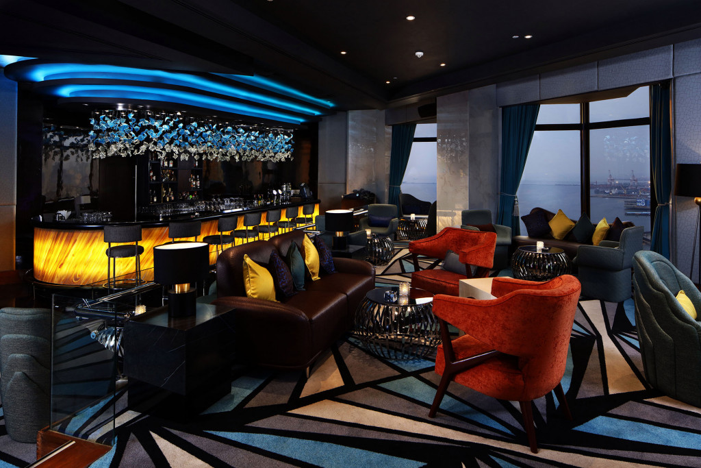 The main bar has a spectacular view of Manila Bay
