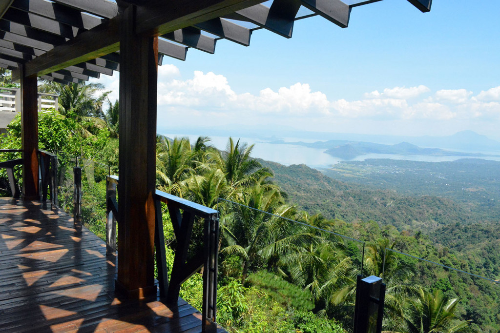 View from the suite's private verandah: Taal Volcano and Lake