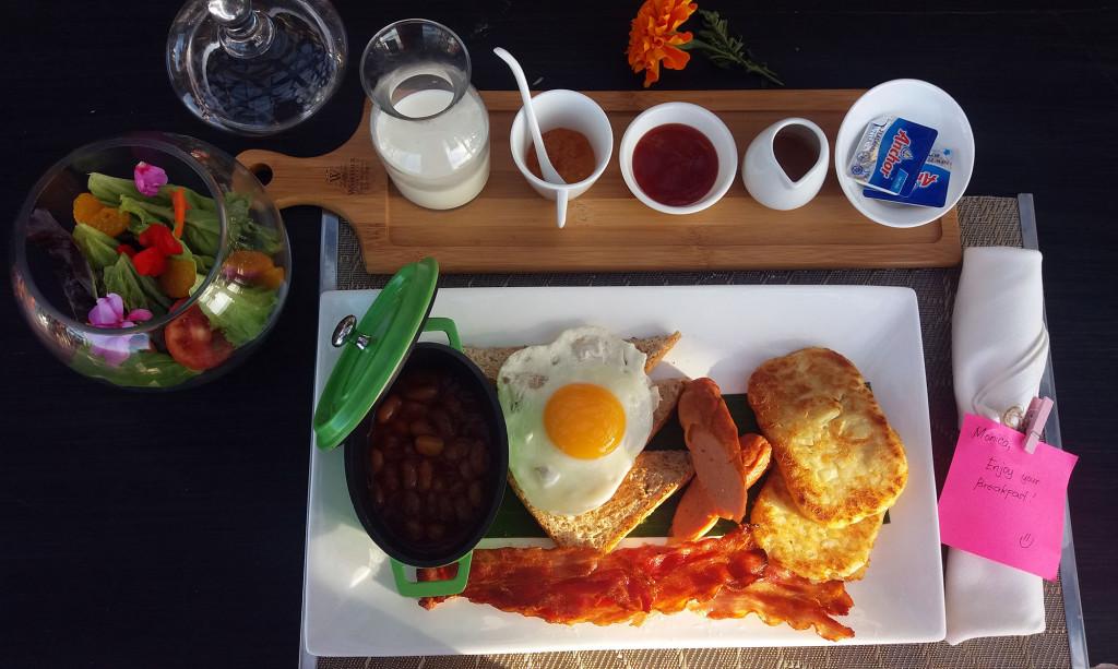 Breakfast is a choice between Western...