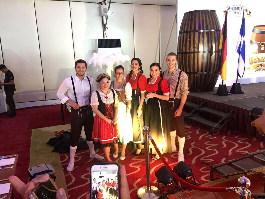 It's in the details. Sofitel Philippine Plaza Manila PR director Yasmin Arqiza (second from left) donning native Bavarian costumes along with models