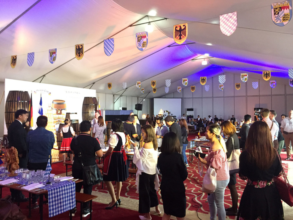 Sofitel's Sunset Pavilion dressed into a lively Bavarian themed venue, a look and feel of the 79th Oktobertfest celebration that will be held on October 6 and 7