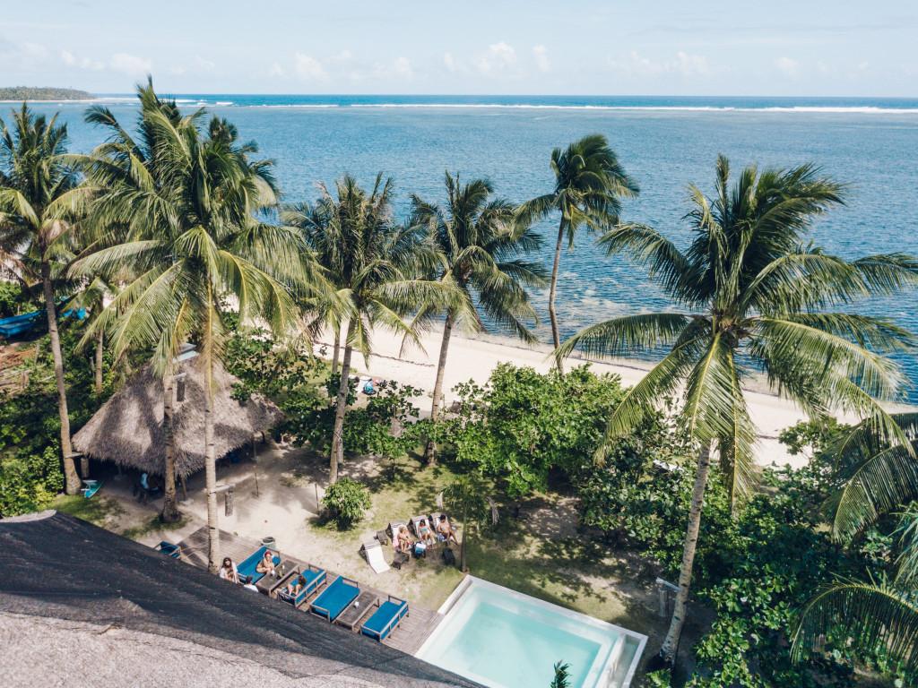 Bravo resort overlooks Pesangan Reef and the Pacific Ocean